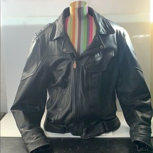 FirstGear leather motorcycle jacket